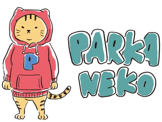 マックハウスから新しい猫キャラクター「パーカー猫」の長袖Tシャツが登場