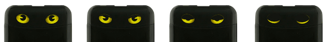 猫の目の大きさで電池残量を通知するモバイルバッテリー