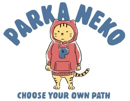 デザイナーのノダックス氏がデザインしたマックハウスの「パーカー猫」