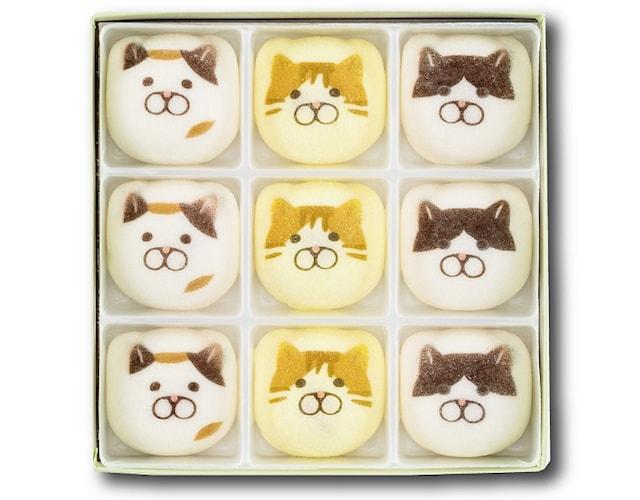 KOZACLA(コザクラ)の猫イラストをデザインした和菓子・鳳瑞(ほうずい)