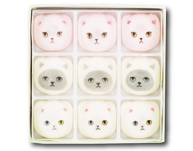 KEORA KEORA(ケオラケオラ)の猫イラストをデザインした和菓子・鳳瑞(ほうずい)