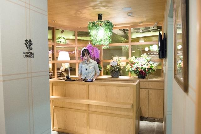 猫カフェMoCHA(モカ)の新宿店の受付