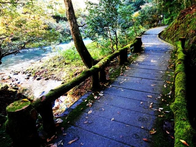 鶴仙渓の遊歩道イメージ写真(AC)