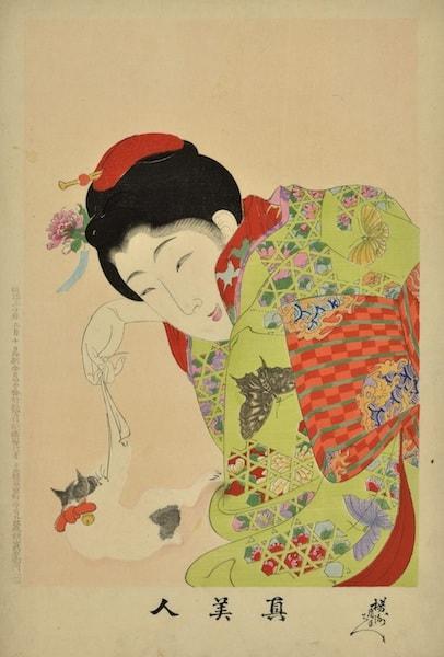 楊洲周延《真美人》 明治30年(1897) 大判錦絵