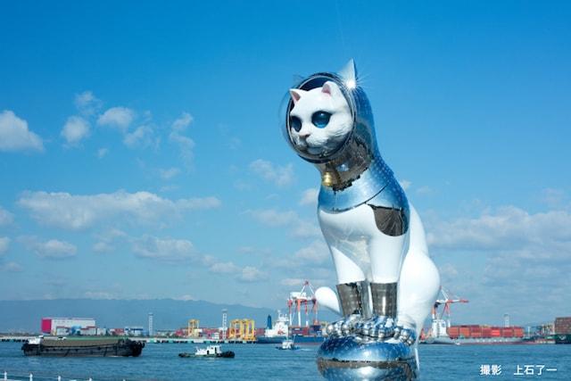 現代美術作家・ヤノベケンジ氏の大型アート作品「SHIPS CAT(シップスキャット)
