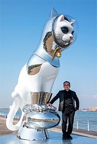 3メートルもある巨大ネコの作品、SHIPS CAT(シップスキャット)