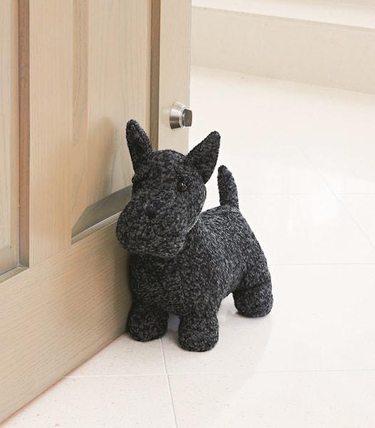 英国・ドラデザイン社製、犬のドアストッパー(スコティッシュテリア)