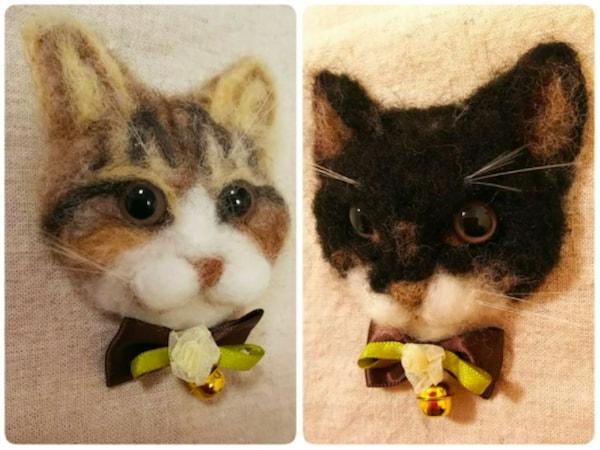 羊毛フェルトワーク by にゃんこまつりで販売される猫グッズ