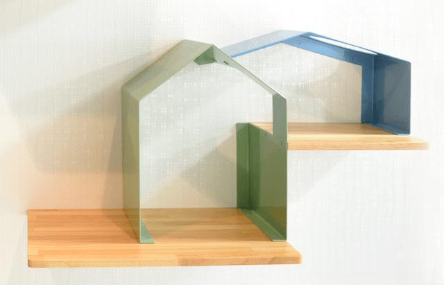 キャットシェルフ「House」のカラー、ペールグリーン