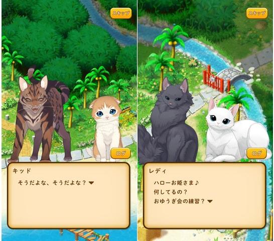 「ねこ島日記」に登場する猫たちのストーリー