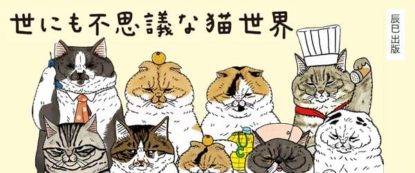 まるで人間のような猫たち「世にも不思議な猫世界」