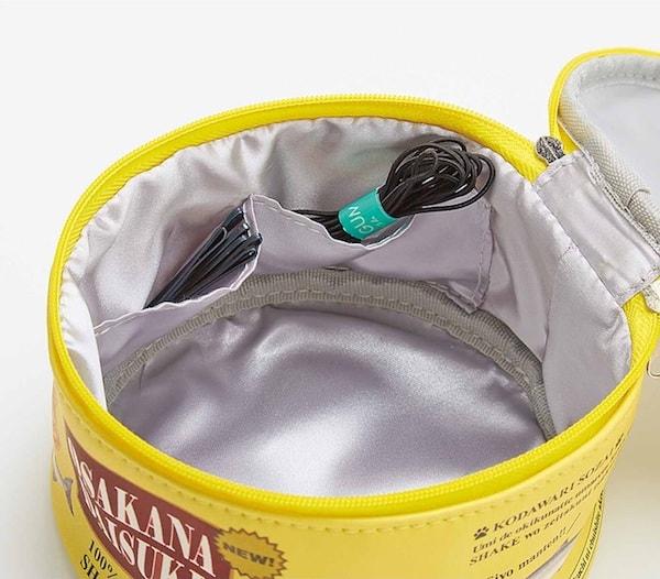 猫缶ポーチの内側にはポケット付き