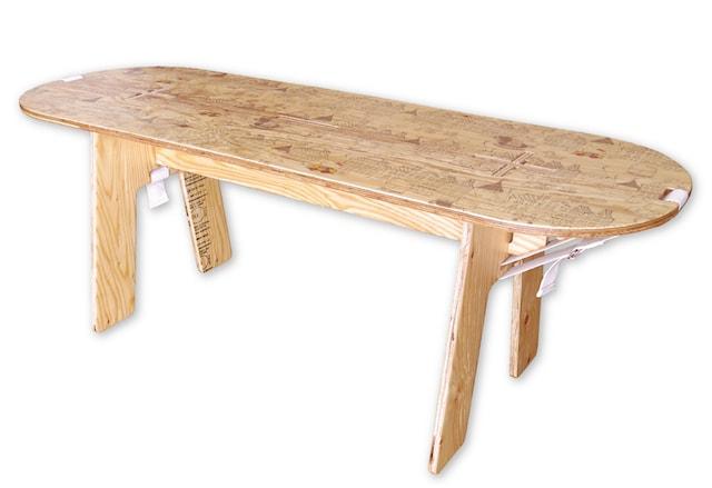 ハローキティのPANEL LONG TABLE(パネルロングテーブル)、組立時