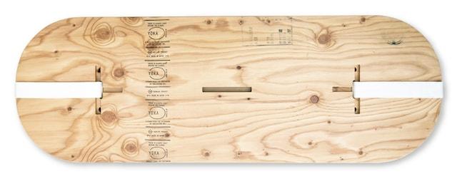 ハローキティのPANEL LONG TABLE(パネルロングテーブル)、収納時