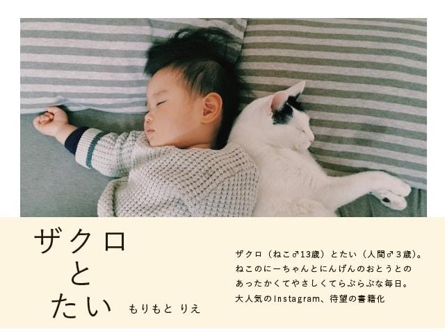 人間の赤ちゃんと猫の仲良し兄弟「ザクロとたい」待望の写真集が登場