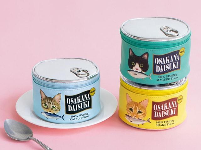 猫好きならバッグにこっそり忍ばせたい「猫缶ポーチ」が登場したニャ