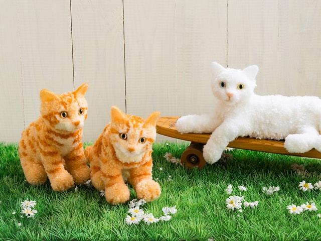 人気猫種やスター猫も作れる書籍「ウチのコそっくりボンボン猫人形」