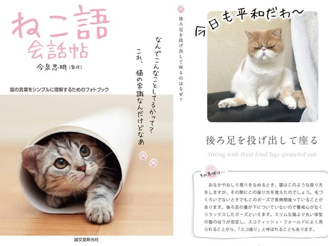 猫の言葉をシンプルに理解するためのフォトブック「ねこ語会話帖」