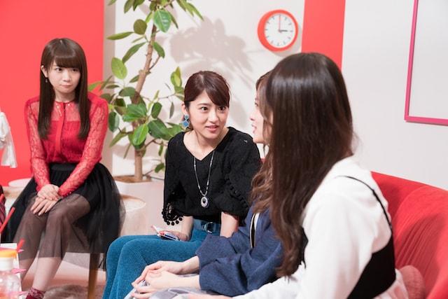 女子会のような会話を繰り広げる乃木坂46のメンバー