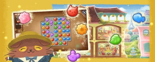 画家猫「ニャッホ」がパズルを解きながお屋敷を再建するゲーム