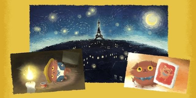 画家猫ニャッホと繰り広げるパズルアドベンチャー
