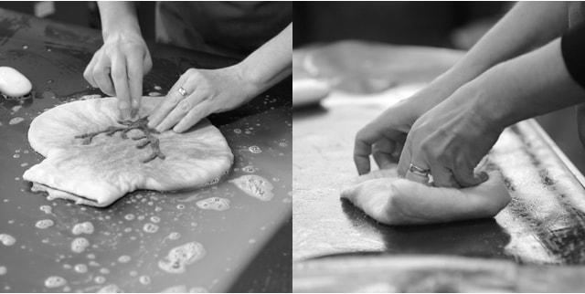 湯たんぽカバーの製作イメージ