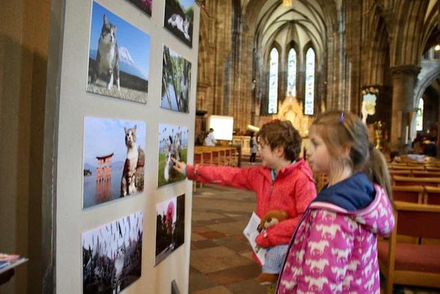 ニャン吉の写真展 in スコットランド