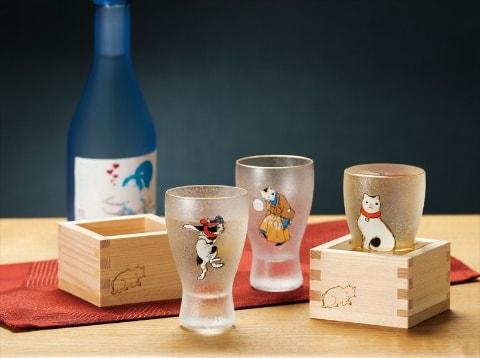 歌川国芳【江戸猫】ねこ枡酒グラス
