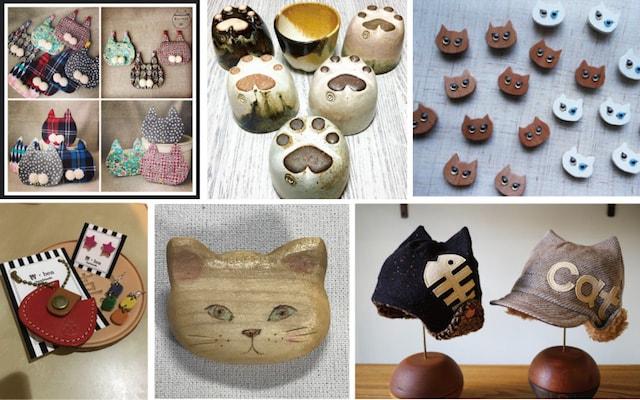 ネコ市で販売される猫グッズのイメージ