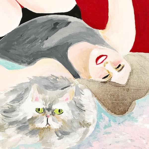 早坂香須子さん×猫のポートレート作品 by 山中玲奈