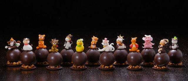 大阪マリオット都ホテルで販売するチョコレート「アニマルショコラ」