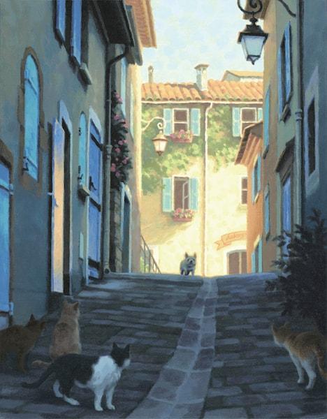 笹倉鉄平さんの絵画作品「他にも道はある」