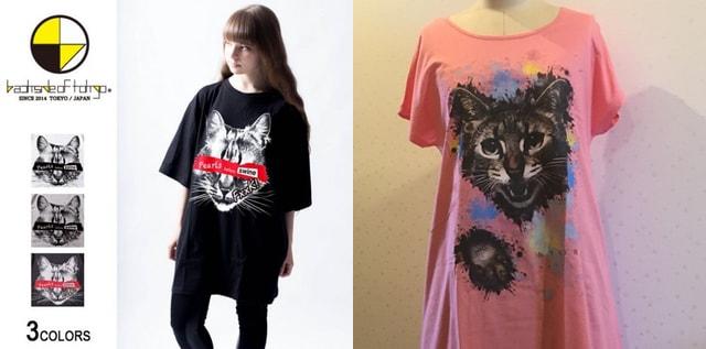 猫モチーフの衣服を集めたフロアファッションショー