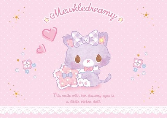 サンリオの猫キャラクター、ミュークルドリーミー(愛称:みゅーちゃん)
