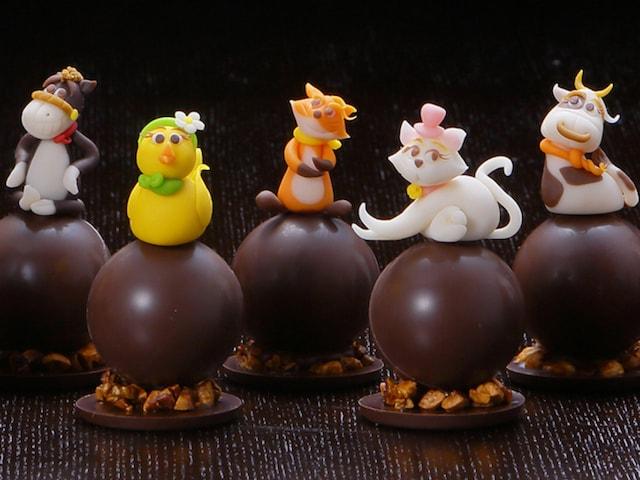 猫や犬など13種類の動物をチョコレートにした「アニマルショコラ」