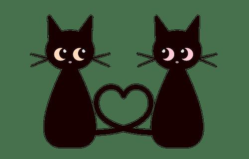 猫×バレンタインのイメージイラスト ac