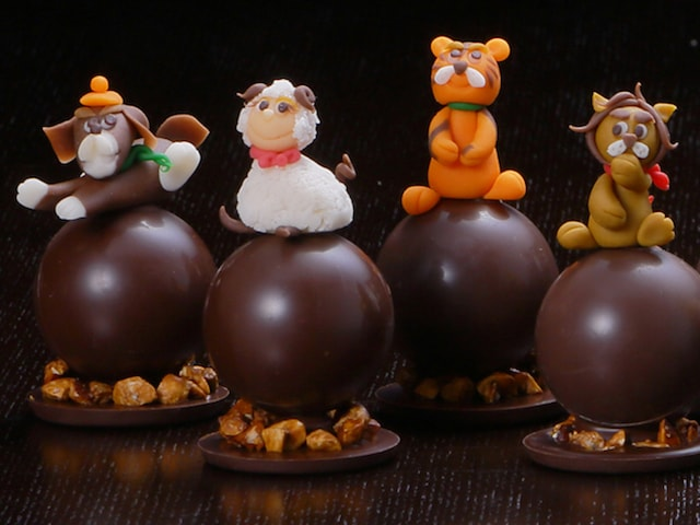 ヒツジなど13種類の動物がチョコレートになったアニマルショコラ