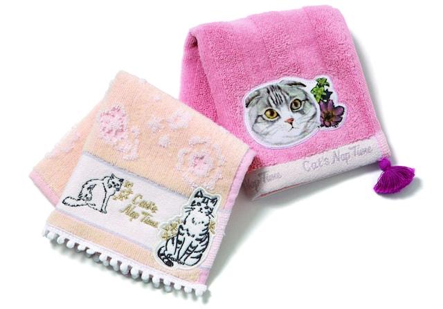 アフタヌーンティー・リビングで発売される猫ハンカチ