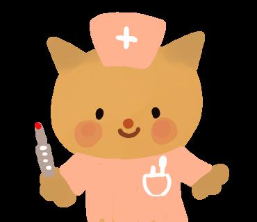 猫の看護師さんイラスト ac
