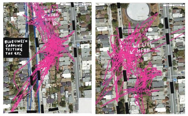 GPSで追跡した猫の足跡 by 「ロスト・キャット 愛と絶望とGPSの物語」