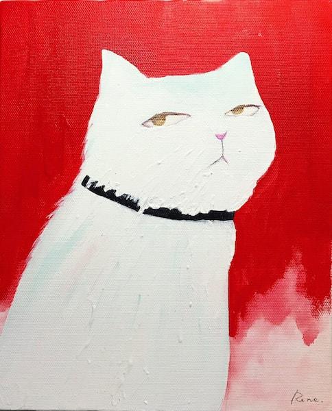 モデルの小松菜奈さんをモチーフに描いた猫作品 by 山中玲奈
