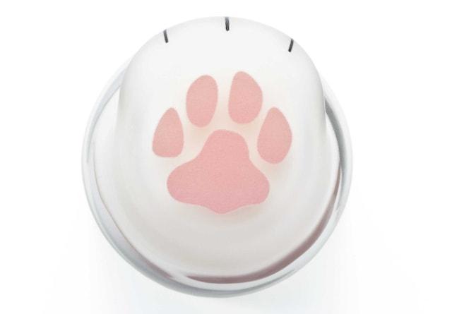 ここねこグラスの底には猫の肉球がデザイン