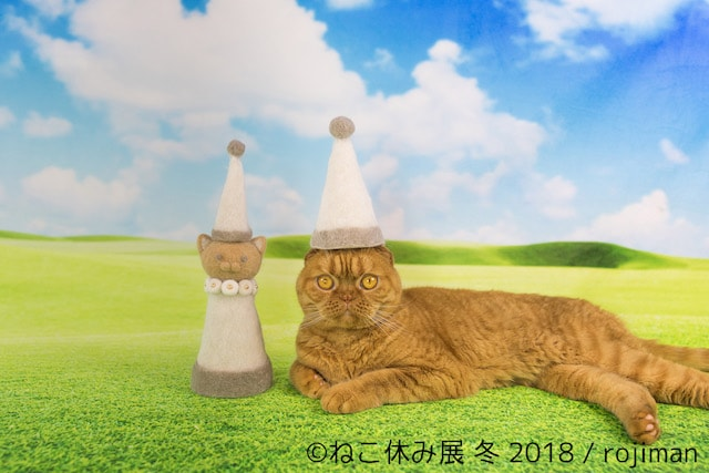 rojimanの猫毛で作った新作「ねこ休みタワー」(茶トラ)