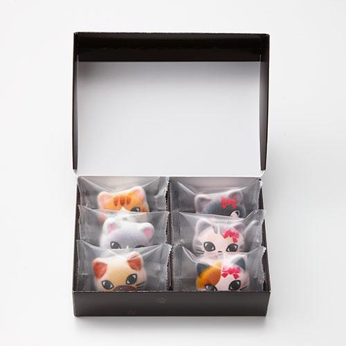 ニャシュマロバレンタインの6個入りパッケージ