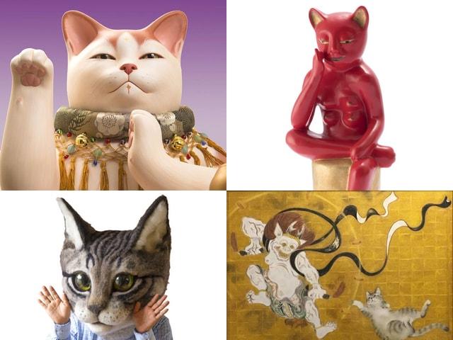 「猫都(ニャンと)の国宝展 at 百段階段~猫の都の国宝アート~」展示作品
