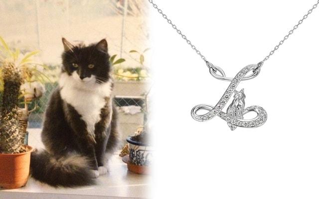 愛猫の写真を元に作ったネックレス