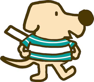盲導犬総合支援センターのキャラクター「もうどう犬エルくん」
