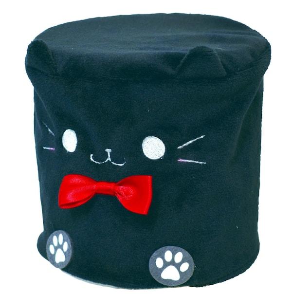 猫のトイレットペーパーカバー、黒猫をモチーフにしたデザイン