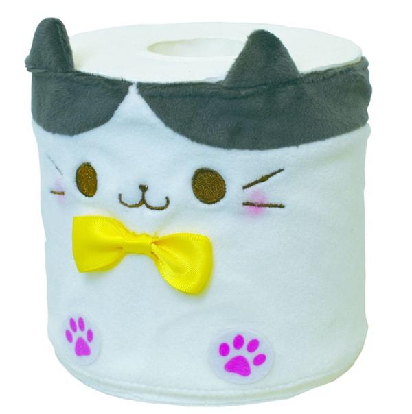 猫のトイレットペーパーカバー、ハチワレをモチーフにしたデザイン