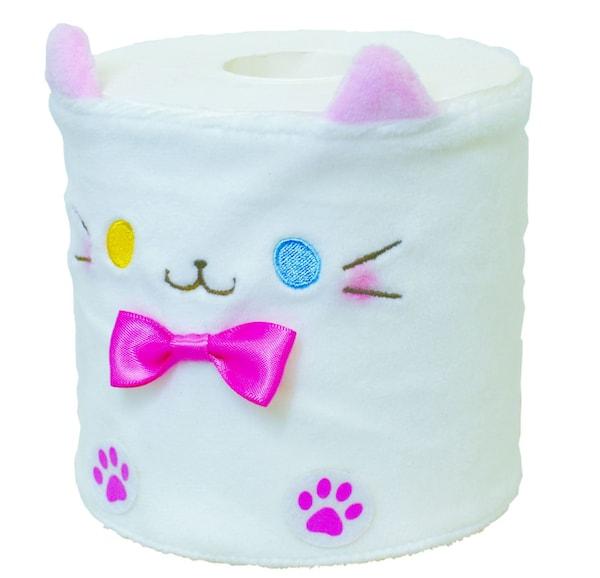 猫のトイレットペーパーカバー、オッドアイをモチーフにしたデザイン
